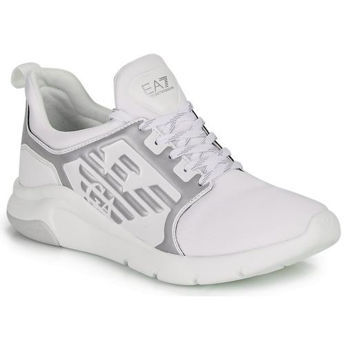Shoes Low top trainers Emporio Armani EA7 RACER REFLEX CC White / Silver