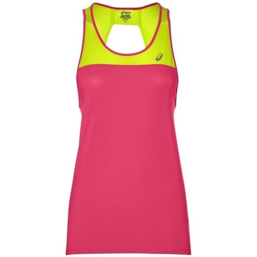 Clothing Women Tops / Sleeveless T-shirts Asics Loose Strappy Tank Pink