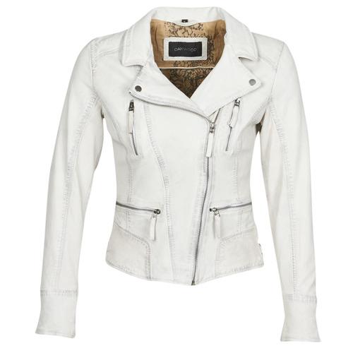 Clothing Women Leather jackets / Imitation leather Oakwood CAMERA White