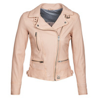 Clothing Women Leather jackets / Imitation leather Oakwood VIDEO Nude / Beige / Pink