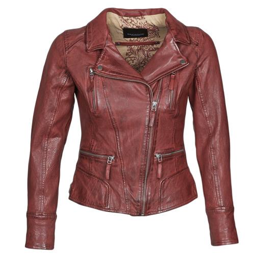 Clothing Women Leather jackets / Imitation leather Oakwood CAMERA Red