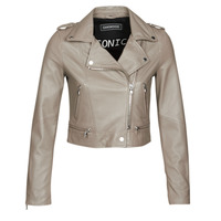 Clothing Women Leather jackets / Imitation leather Oakwood YOKO Mastic / (taupe)