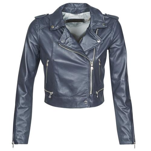 Clothing Women Leather jackets / Imitation leather Oakwood YOKO Marine