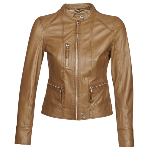 Clothing Women Leather jackets / Imitation leather Oakwood EACH Cognac
