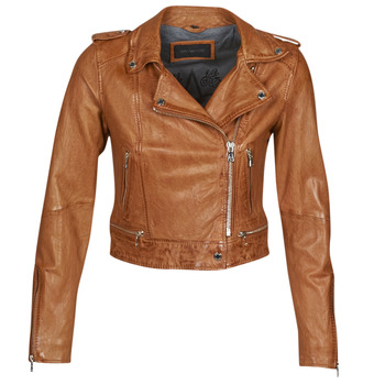 Clothing Women Leather jackets / Imitation leather Oakwood KYOTO Cognac