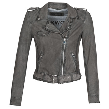Clothing Women Leather jackets / Imitation leather Oakwood PLEASE Grey