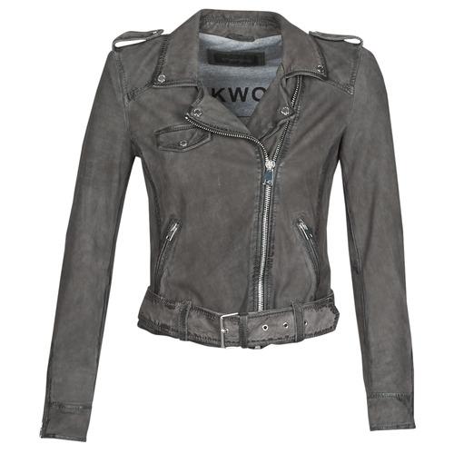 Clothing Women Leather jackets / Imitation leather Oakwood PLEASE Grey