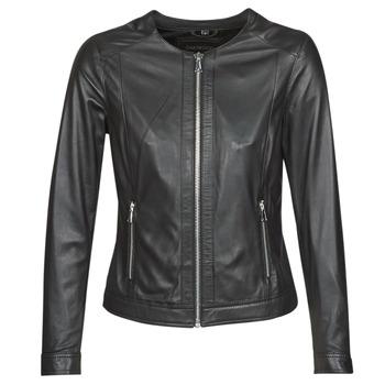 Clothing Women Leather jackets / Imitation leather Oakwood MICHELLE Black