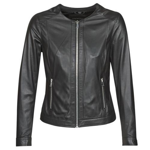 Clothing Women Leather jackets / Imitation leather Oakwood PLEASE Black