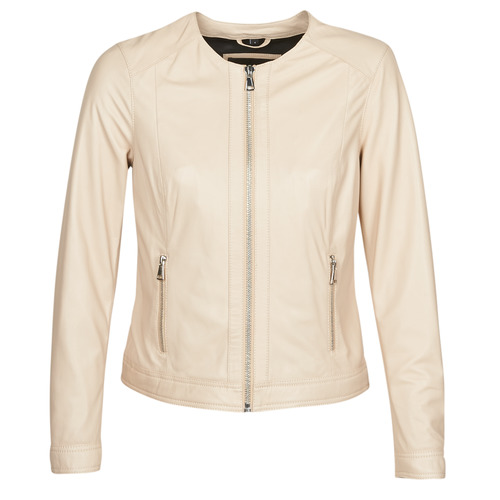Clothing Women Leather jackets / Imitation leather Oakwood MICHELLE Beige / Pink