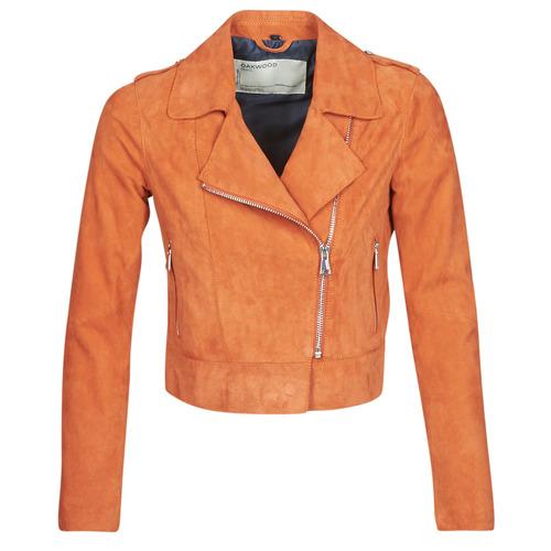 Clothing Women Leather jackets / Imitation leather Oakwood KEREN Rust