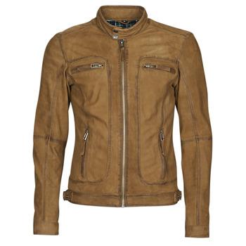Clothing Men Leather jackets / Imitation leather Oakwood CASTEL Cognac