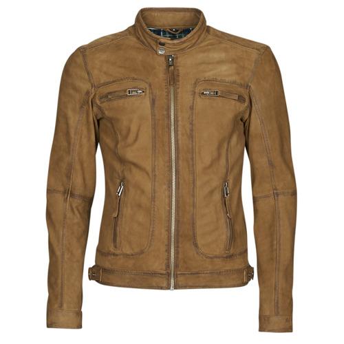 Clothing Men Leather jackets / Imitation leather Oakwood PLEASE Cognac