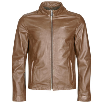 Clothing Men Leather jackets / Imitation leather Oakwood KEREN Cognac