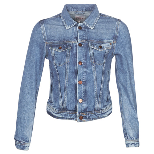 Clothing Women Denim jackets Pepe jeans CORE Blue / Medium