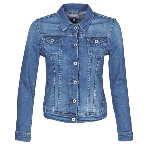 Clothing Women Denim jackets Pepe jeans THRIFT Blue / Medium