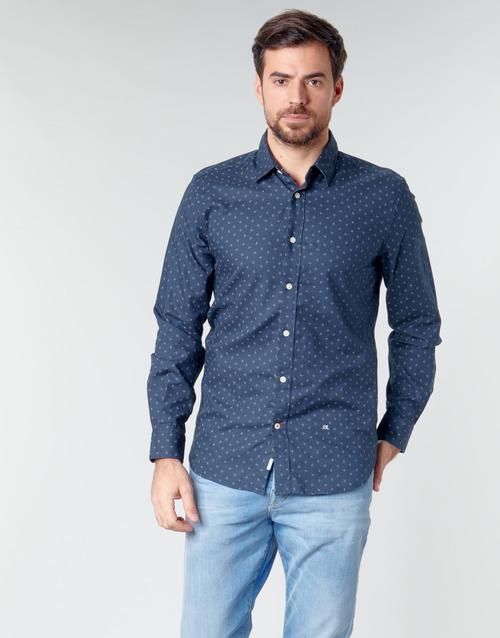 Clothing Men long-sleeved shirts Pepe jeans ADAN Marine