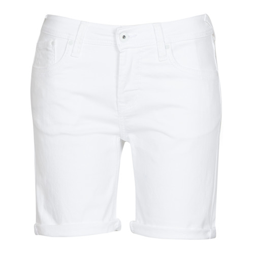 Clothing Women Shorts / Bermudas Pepe jeans POPPY White