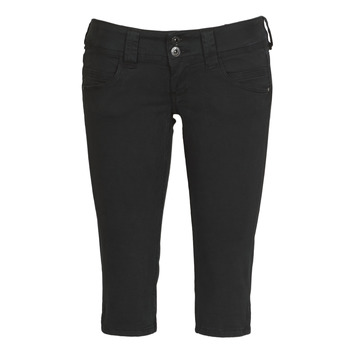Clothing Women Cropped trousers Pepe jeans VENUS CROP Black