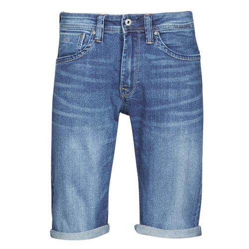 Clothing Men Shorts / Bermudas Pepe jeans CASH Blue / Medium
