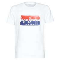 Clothing Men short-sleeved t-shirts Pepe jeans MILBORN White