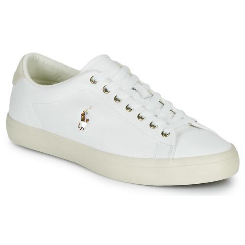 Shoes Men Low top trainers Polo Ralph Lauren LONGWOOD-SNEAKERS-VULC White