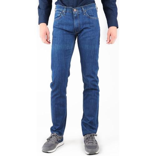 Clothing Men Straight jeans Lee Daren L707AA46 navy