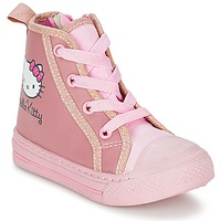 Shoes Girl Hi top trainers Hello Kitty TANSIOUR Pink