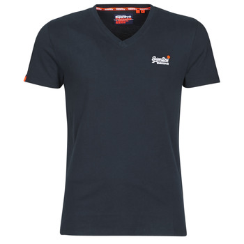Clothing Men short-sleeved t-shirts Superdry ORANGE LABEL VNTGE EMB VEE TEE Eclipse / Navy