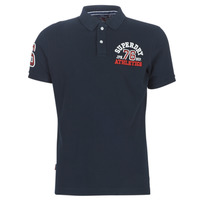Clothing Men short-sleeved polo shirts Superdry CLASSIC SUPERSTATE S/S POLO Eclipse / Navy