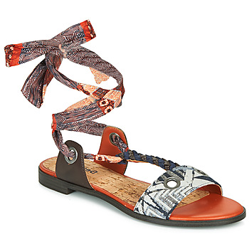 Shoes Women Sandals Desigual JUNGLE AFRICA Marine / White