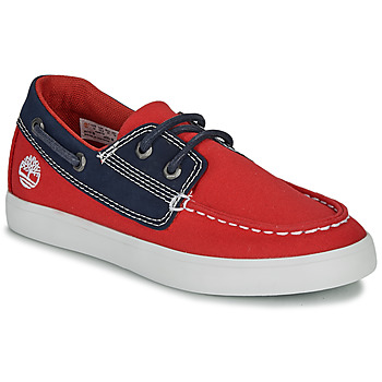 Shoes Children Boat shoes Timberland Newport Bay Boat Shoe TD Red / Blue