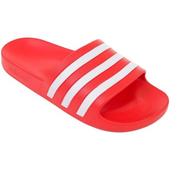 Shoes Men Tap-dancing adidas Originals Adilette Aqua Red