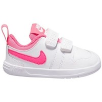 Shoes Children Low top trainers Nike Pico 5 White, Pink