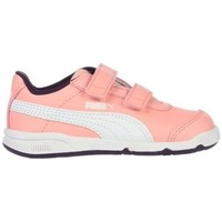 Shoes Children Low top trainers Puma Stepfleex 2 SL V PS White,Black,Pink