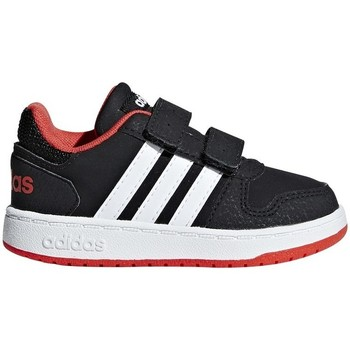Shoes Children Low top trainers adidas Originals Hoops 20 Inf Black