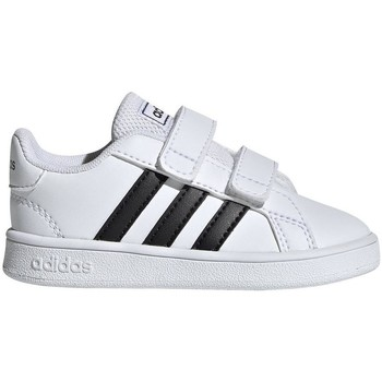 Shoes Children Low top trainers adidas Originals Grand Court I White