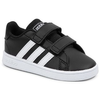 Shoes Children Low top trainers adidas Originals Grand Court I Black
