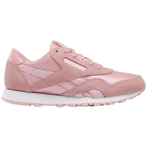 Shoes Children Low top trainers Reebok Sport CL Nylon Pink