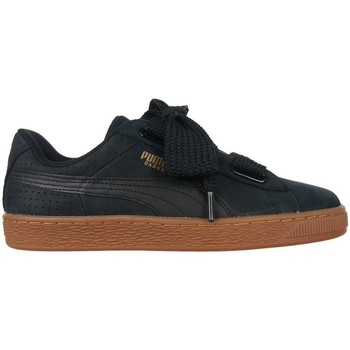Shoes Women Low top trainers Puma Basket Heart Perforated Gum Black