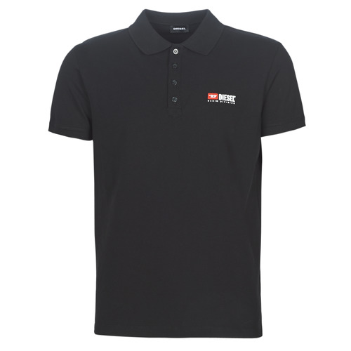 Clothing Men short-sleeved polo shirts Diesel T-WEET Black