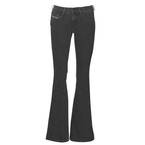 Clothing Women Bootcut jeans Diesel EBBEY Blue / Dark