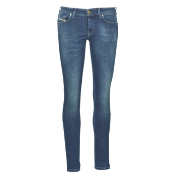 Clothing Women slim jeans Diesel SLANDY LOW Blue