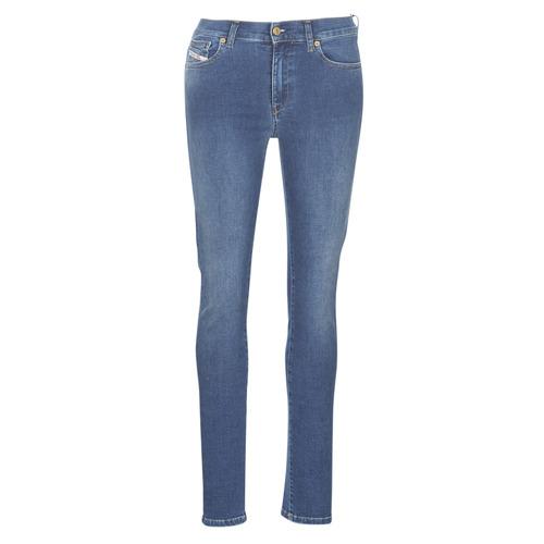 Clothing Women slim jeans Diesel D-ROISIN Blue