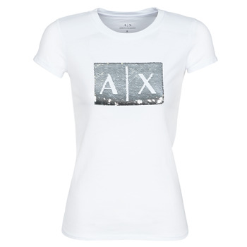 Clothing Women short-sleeved t-shirts Armani Exchange HANEL White