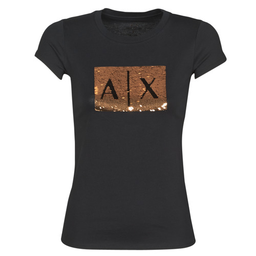 Clothing Women short-sleeved t-shirts Armani Exchange HONEY Black