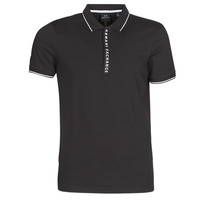 Clothing Men Short-sleeved polo shirts Armani Exchange HANEMO Black