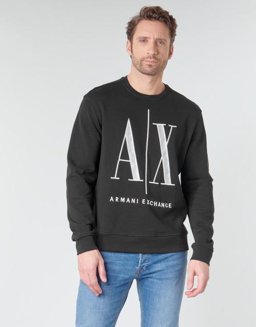 Clothing Men sweaters Armani Exchange HELIX Black
