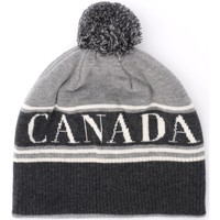 Clothes accessories Women Hats / Beanies / Bobble hats Canada Goose cap in gray wool with pompom Grey