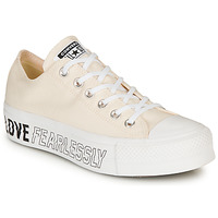 Shoes Women Low top trainers Converse CHUCK TAYLOR ALL STAR LIFT - OX Beige